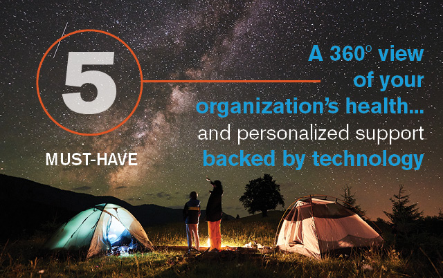Must Have #5: A 360º view of your organization's health… and personalized support backed by technology