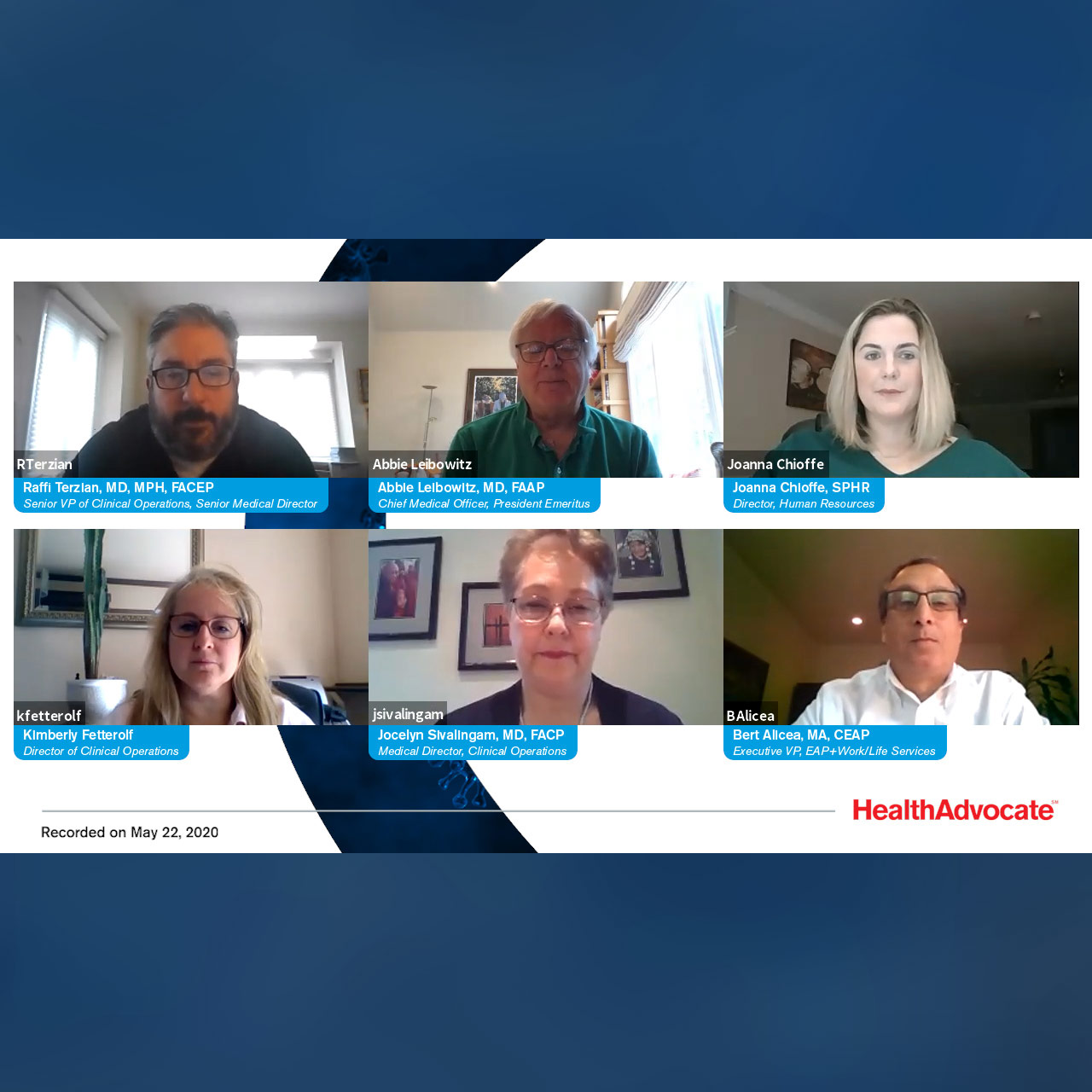 Health Advocate Expert Panel - COVID-19 FAQs